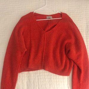 Red/orange slouchy urban sweater!